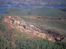 Iron ore mine Stock Photo