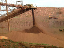 Iron ore mine. Stock Image
