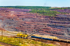 Iron ore mining in Mikhailovsky field within Kursk Magnetic Anom. Aly, Russia Royalty Free Stock Image