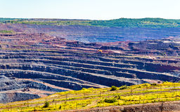 Iron ore mining in Mikhailovsky field within Kursk Magnetic Anom Stock Image