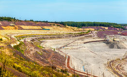 Iron ore mining in Mikhailovsky field within Kursk Magnetic Anom Stock Photos