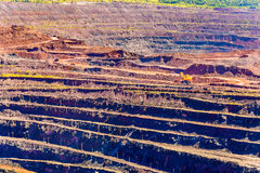 Iron ore mining in Mikhailovsky field within Kursk Magnetic Anom Stock Photography