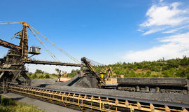 Iron ore mining Royalty Free Stock Images