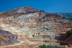 Iron ore open mine Royalty Free Stock Images