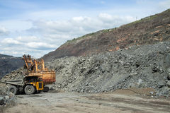 Iron ore opencast Stock Images