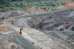 Iron ore opencast mining Royalty Free Stock Images