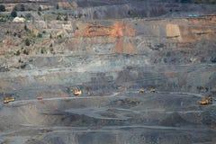 Iron ore opencast mining Royalty Free Stock Photo