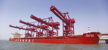 Iron ore terminal Royalty Free Stock Photos
