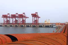 Iron ore terminal Stock Photo