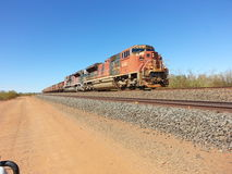 BHP Iron ore train Pilbara Western Australia outback Stock Photography