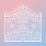 Iron ornament gates on 2016 Royalty Free Stock Photo