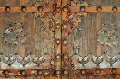 Iron ornamental gate Stock Images