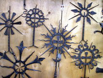 Iron ornaments. Various iron ornaments, smithery works. Lithuania Royalty Free Stock Photos