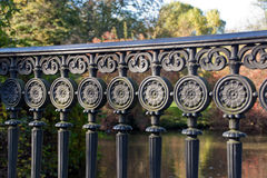 Iron ornaments on a railing Royalty Free Stock Photography