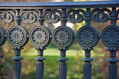 Iron ornaments on a railing Stock Photo
