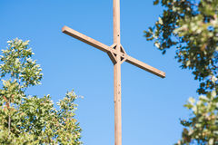Iron orthodox cross Royalty Free Stock Photos