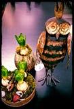 Iron owl. Metal owl, decoration Stock Images