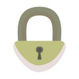Iron padlock. Vector illustration,  on white. Royalty Free Stock Photos
