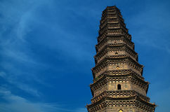 Iron Pagoda in Kaifeng, China. Buddhist brick pagoda in the city of Kaifeng in China. Has been built in 1069. Best example of glazed brick pagoda in China Stock Images