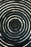 Iron panels with a circular pattern hypnosis. View stock photography