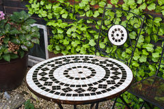Iron patio furniture Royalty Free Stock Images