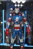 Iron patriot. Character, Iron man movie. In the Museum of Film Legends in Prague 30.3.2018 stock photos