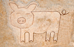 The Iron pattern line of pig Royalty Free Stock Photography