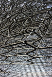 Iron pavillion in Expo Milan. Iron cage  in Expo Milan Stock Image