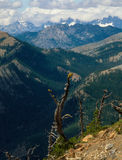 From Iron Peak, Alpine Lakes Wilderness, Cascade Range. The trail is rock-strewn and steep but - like so many places in the Alpine Lakes Wilderness - a little Stock Images