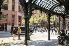 Iron Pergola On Pioneer Square, Seattle, WA Royalty Free Stock Photos
