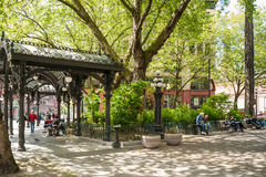 Iron Pergola on Pioneer Square, Seattle, WA Royalty Free Stock Images