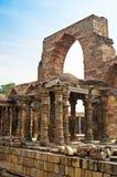 Iron Pillar and Qutab Minar Ruins Delhi India Royalty Free Stock Images