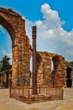 Iron pillar in Qutub complex Royalty Free Stock Image