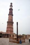 Iron Pillar at Qutub Minar in Delhi, India Royalty Free Stock Photos