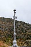 Iron pillar structure of an historic bridge Stock Photo