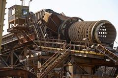 Iron pipeline. Stock Photo