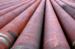 Iron pipes. In an oil mining area Royalty Free Stock Photos