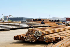 Iron pipes and steel tubes factory Stock Image