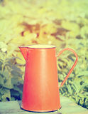 Iron pitcher with silky pink peonies Royalty Free Stock Photography
