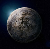 Iron planet. (photoshop collge from metal texture vector illustration