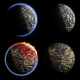 Iron planets collection Royalty Free Stock Photography