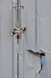 Iron plate door with breakage Stock Image