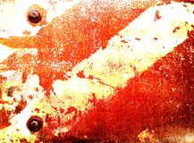 Iron plate. Rust and fragment vintage iron plate background text Royalty Free Stock Photography