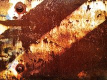 Iron plate. Rust and fragment vintage iron plate background text Stock Photos