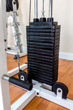 Iron Plates of Weight Lifting Equipment  / Plates of Weight Lifting Machine Royalty Free Stock Photos