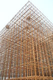 The iron pole scaffold staging Royalty Free Stock Image