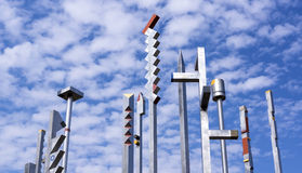 Iron poles art composition Royalty Free Stock Photos