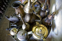 Iron pottery tray Royalty Free Stock Images