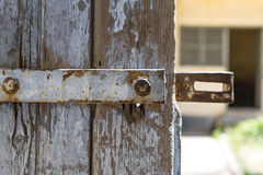 Iron Prison Door Lock Stock Photos