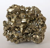 Iron Pyrite crystal cluster Royalty Free Stock Photography